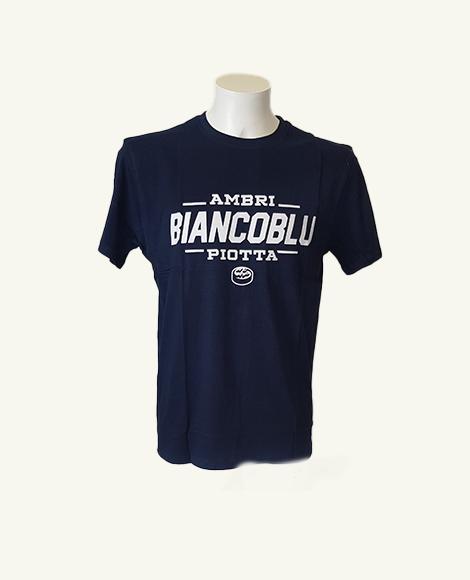 T-Shirt biancoblu blu